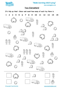 Worksheets for kids - toys-everywhere