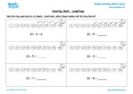 Worksheets for kids - counting-back-leapfrogs
