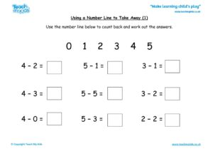 Worksheets for kids - using-a-number-line-to-take-away-_1_
