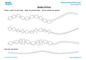 Worksheets for kids - beading_patterns