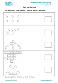 Worksheets for kids - copy-the-pattern