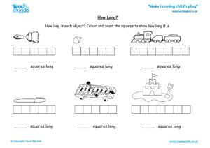 Worksheets for kids - how-long