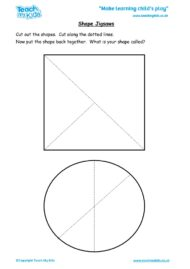 Worksheets for kids - shape-jigsaws