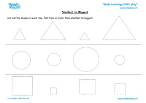 Worksheets for kids - smallest-to-biggest