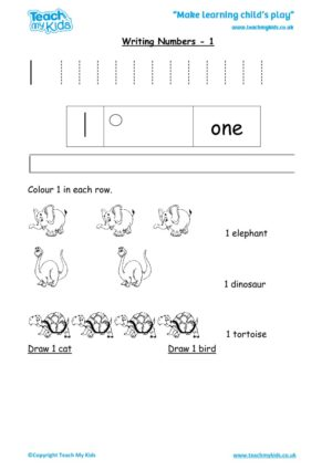 Worksheets for kids - writing 1