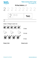 Worksheets for kids - writing 2