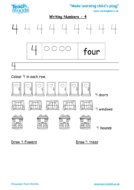 Worksheets for kids - writing 4