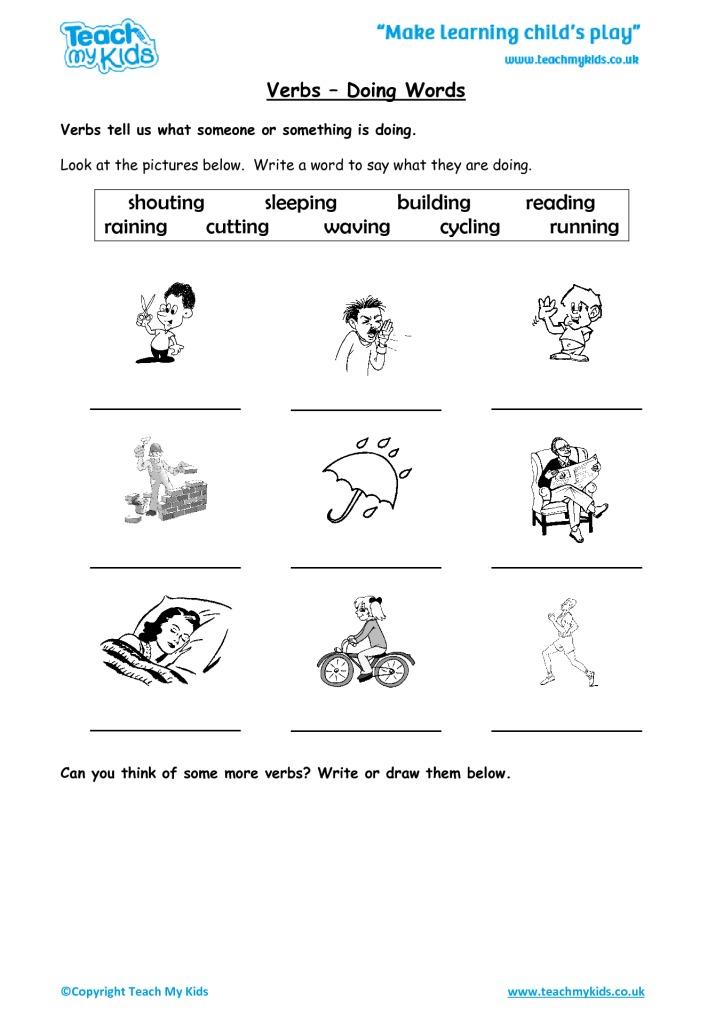 Verbs   Doing Words   TMK Education