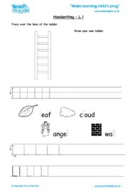Worksheets for kids - handwriting Lldocx