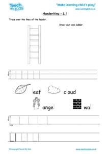 Worksheets for kids - handwriting Lldocx