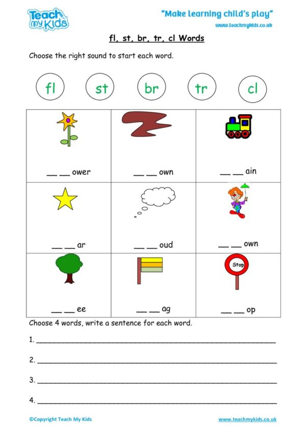 Worksheets for kids - flstbrtrcl