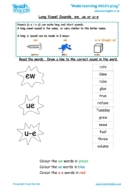 Worksheets for kids - long-vowel-sounds-ew-ue-u-e