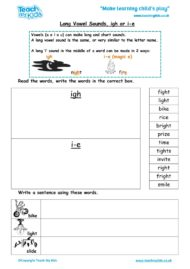 Worksheets for kids - long-vowel-sounds-igh-i-e