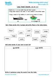 Worksheets for kids - long-vowel-sounds-oa-o-e