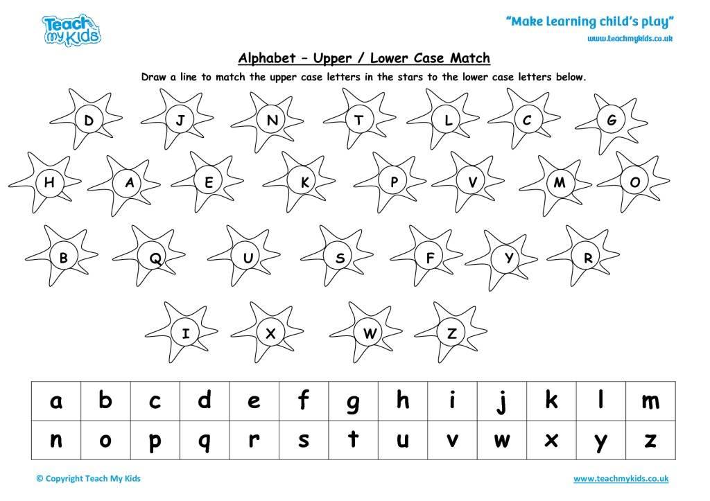 Alphabet Practise Upper And Lower Case Match Tmk Education. Alphabet Practise Upper And Lower Case Match. Worksheet. Upper And Lower Case Alphabet Worksheets At Clickcart.co