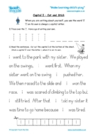 Worksheets for kids - capital_i_-_cut_and_stick
