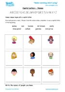 Worksheets for kids - capital_letters_-_names_2