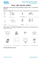 Worksheets for kids - plurals-more-than-1-adding-s