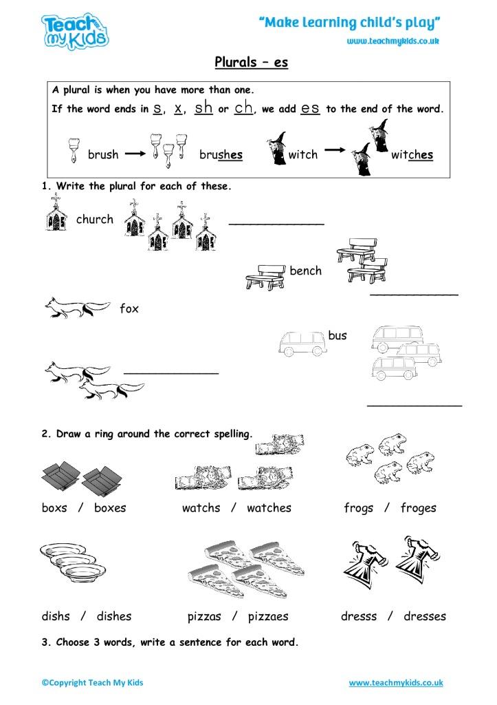Printable spelling worksheets for year 2