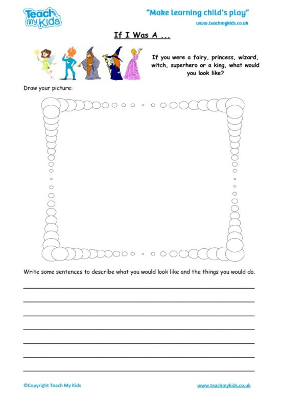 Worksheets for kids - If I was a..