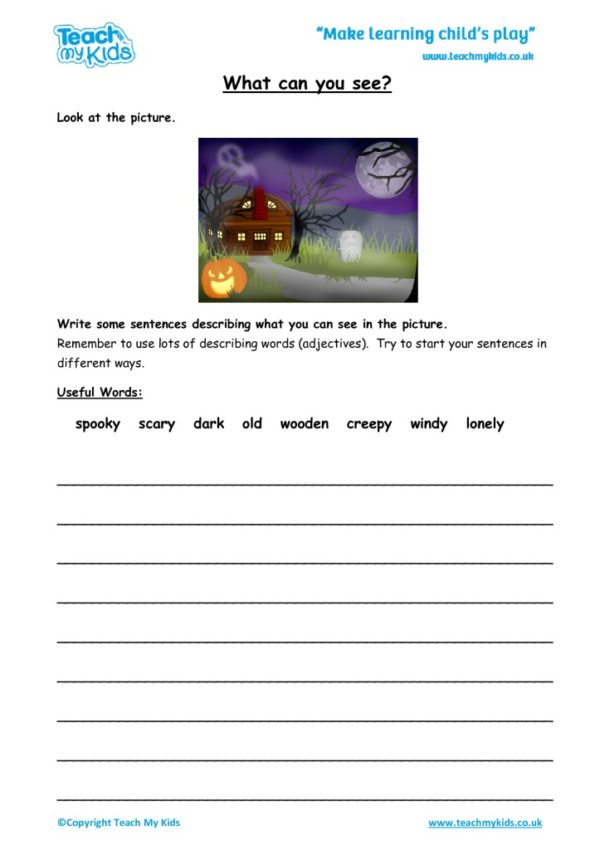 Worksheets for kids - What-can-you-see