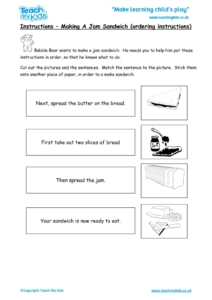 Worksheets for kids - instructions-sandwich-ordering-instructions