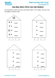 Worksheets for kids - how-many-more-Write-your-own-nos