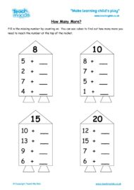 Worksheets for kids - how-many-more