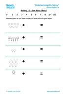 Worksheets for kids - making10-how-many-more
