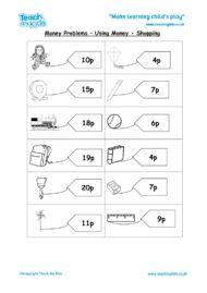 Worksheets for kids - money-labels