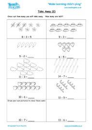 Worksheets for kids - take-away-2