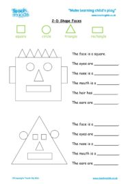 Worksheets for kids - 2d-shape-faces