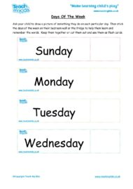Worksheets for kids - days-of-week