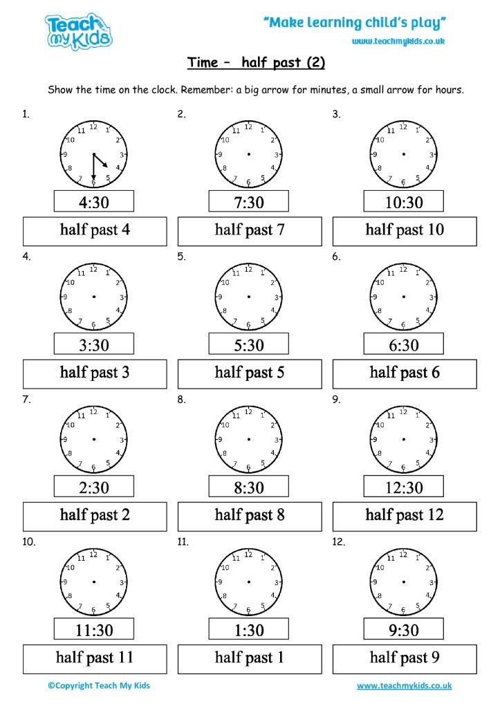 time half past 2 tmk education. Black Bedroom Furniture Sets. Home Design Ideas