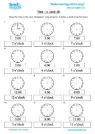 Worksheets for kids - time-oclock-2