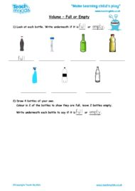 Worksheets for kids - volume_-_full_or_empty