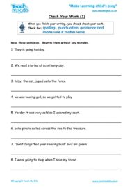 Worksheets for kids - check-your-work