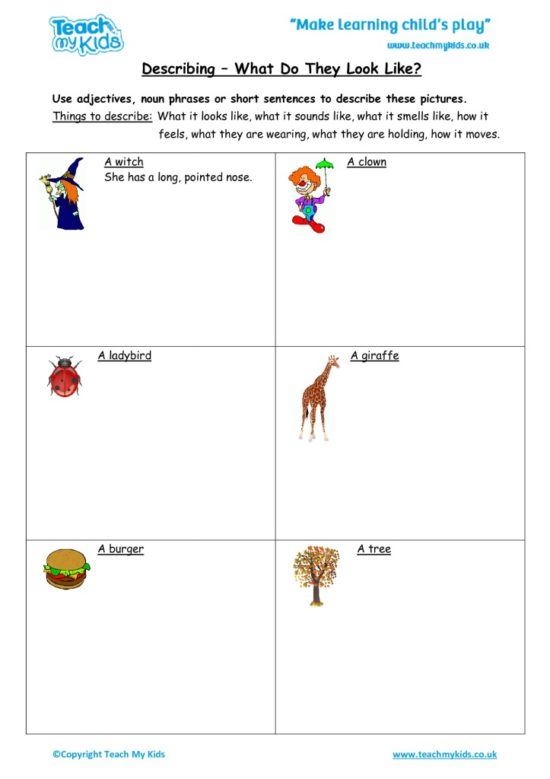 Worksheets for kids - describing_-_what_do_they_look_like