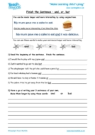 Worksheets for kids - finish_the_sentence_-_and_or_but