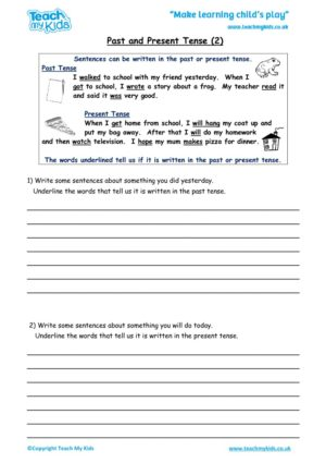 Worksheets for kids - past_and_present_tense_2