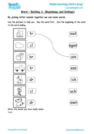 Worksheets for kids - word-building-3-beginnings-endings