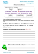 Worksheets for kids - missing-punctuation
