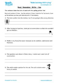 Worksheets for kids - read,_remember_write_-_tion