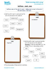 Worksheets for kids - suffixes_-_ment,_ness