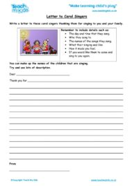 Worksheets for kids - Letter-to-Carol-Singers