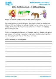 Worksheets for kids - little-red-riding-alt-ending