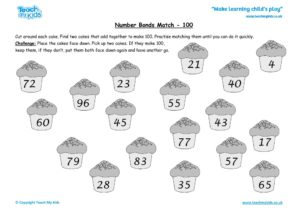 Worksheets for kids - number_bonds_match_-_100_2