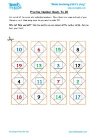Worksheets for kids - practise_number_bonds_to_20