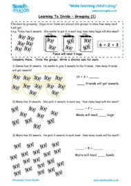 Worksheets for kids - learning-to-divide-grouping1