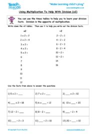 Worksheets for kids - using-multiplication-to-help-with-division-x2
